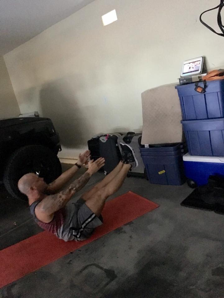 Gary even made the workouts grittier in the garage using On Demand access!